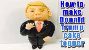 how to make donald trump cake topper youtube