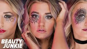 easy spiderweb halloween makeup beauty junkie youtube