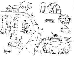 farm scene coloring page coloring pages farming scenes az