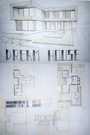 modern architectureoor plans house drawing perspective design