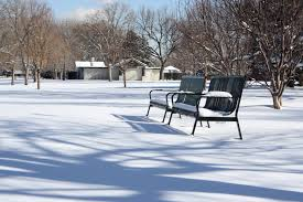 park benches in the snow picture free photograph photos public
