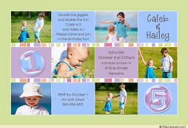 birthday six photo card brother u0026 sister pastels party