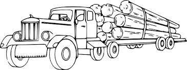 truck carrying lumber trucks coloring pages