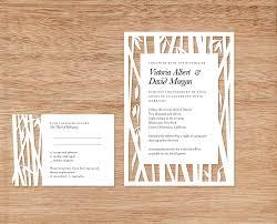 Design Wedding Invitation Cards Bamboo Papercut Wedding Invitation By Woodland Papercuts