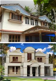 traditional old house renovation plan colonial style kerala