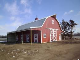 Gambrel Pole Barn by Equine 3 Quality Structures Inc