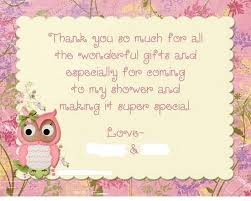 interesting wording for baby shower thank you cards 37 for your