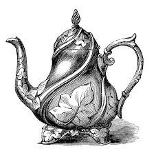 teapot clip art coloring page clipartix
