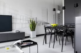 a modern black u0026 white apartment in poland design milk