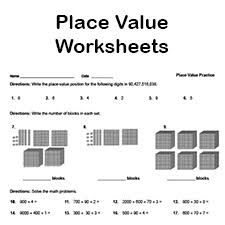 free place value worksheets math printables for kids pdf format