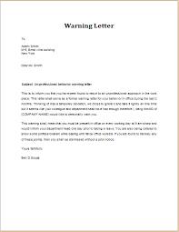 warning letter for unprofessional behavior word u0026 excel templates