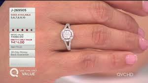 qvc wedding bands halo design ring 14k gold 1 2 cttw by affinity