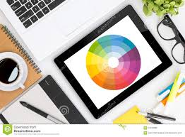 designer desk creative graphic designer desk stock image image 57072693