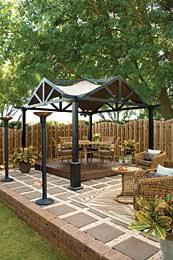 Patio Gazebo Lowes Outdoor Living Backyard Luxury
