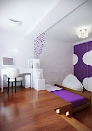 Space Saving Bedroom Ideas For Teenagers by Purple White Modern Bedroom Hideaway Bed Great Room Idea For