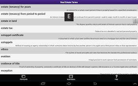 kaplan real estate terms android apps on google play