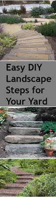 Backyard Steps Ideas Diy Steps For Your Yard Landscape Steps Backyard And Landscaping