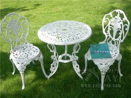 Bistro Patio Table And Chairs Set Patio Table Chairs Set Ivory Iron Furniture Balcony Pool Bistro 3
