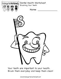kindergarten dental health worksheet printable worksheets