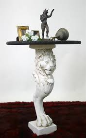 lion leg renaissance home decor stand or console base 29h for sale