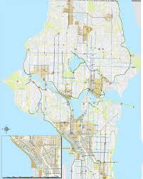 Seattle Bike Map Title By Student Name Green Urbanism And Ecological