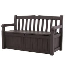 Keter Com Keter Eden 70 Gal Bench Deck Box In Brown 213126 The Home Depot