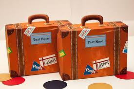 piggy bank party favors vintage suitcase favor box diy printable pdf file piggy bank