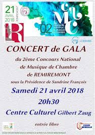 concours musique de chambre remiremont concert de gala du 2ème concours de musique de chambre