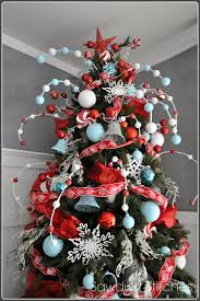 a beautiful tree decorated entirely in crafted