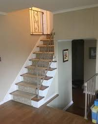 Oak Banister Replacing Metal Railings With Oak Railings In Chatham Nj Monk U0027s