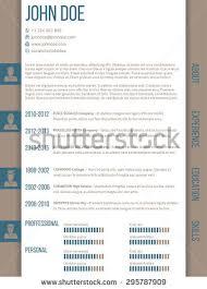 Resume Template Design Minimalist Cv Square Style Resume Template Stock Vector 411887254