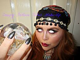 creepy fortune teller gypsy halloween make up