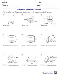 surface area and volume worksheets with answers free worksheets