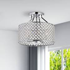 Ceiling Fan Chandelier Combo Chrome Ceiling Fans With Lights Crystal Chandelier Ceiling Light
