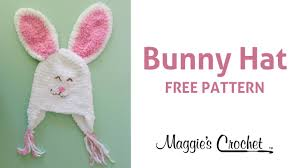 easter bunny hat bunny hat free crochet pattern right handed