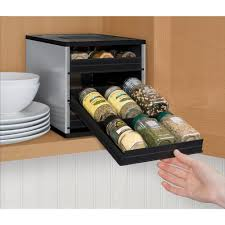 In Drawer Spice Racks Spice Racks U0026 Jars Kitchen Storage U0026 Organization The Home Depot