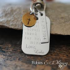 engraved keepsakes godfather godmother personalized keychain engraved gift for