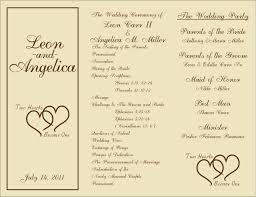 Programs For Wedding Template Program For Wedding Template