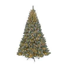 Christmas Window Decorations Homebase by 7 5ft Snowy Derry Pre Lit Christmas Tree At Homebase Co Uk