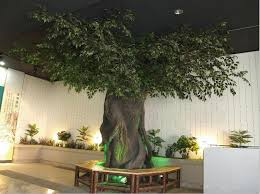 2014 sj at084 indoor artificial banyan tree for landscape project