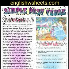 cinderella esl printable fairy tale and comprehension questions