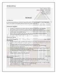 Skills For Housekeeping Resume Hotel Housekeeping Resume