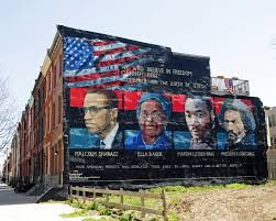 Mural Software by File Mural Malcolm X Ella Baker Martin Luther King Frederick