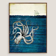 acrylic octopus ring holder images Rustic octopus wall art world market tif&a