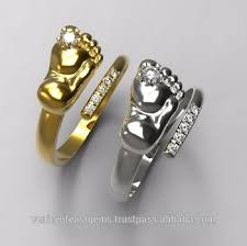 baby finger rings images 14k white gold or yellow gold baby feet rings comes with cz main jpg