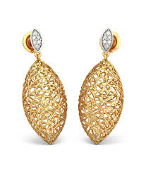 bluestone earrings bluestone 18kt yellow gold diamond ooid lattice earrings buy