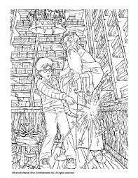 albus dumbledore and harry potter coloring page