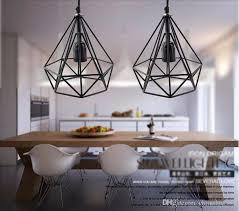 Black Iron Pendant Light 2016 Deco Vintage Pendant Lights Led L Metal Cube Cage