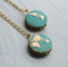 World Map Necklace by 20 Cute Travel Inspired Jewelry Accessories