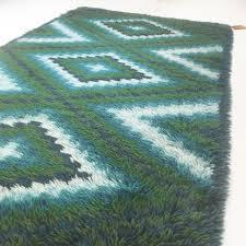 scandinavian square pattern rya rug by ege taepper 1960s for sale